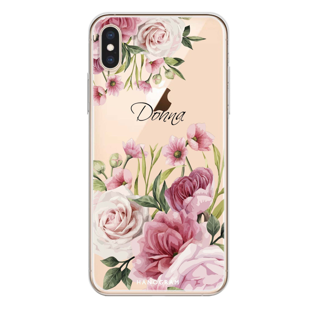 Beautiful Flowers iPhone X Soft Clear Case