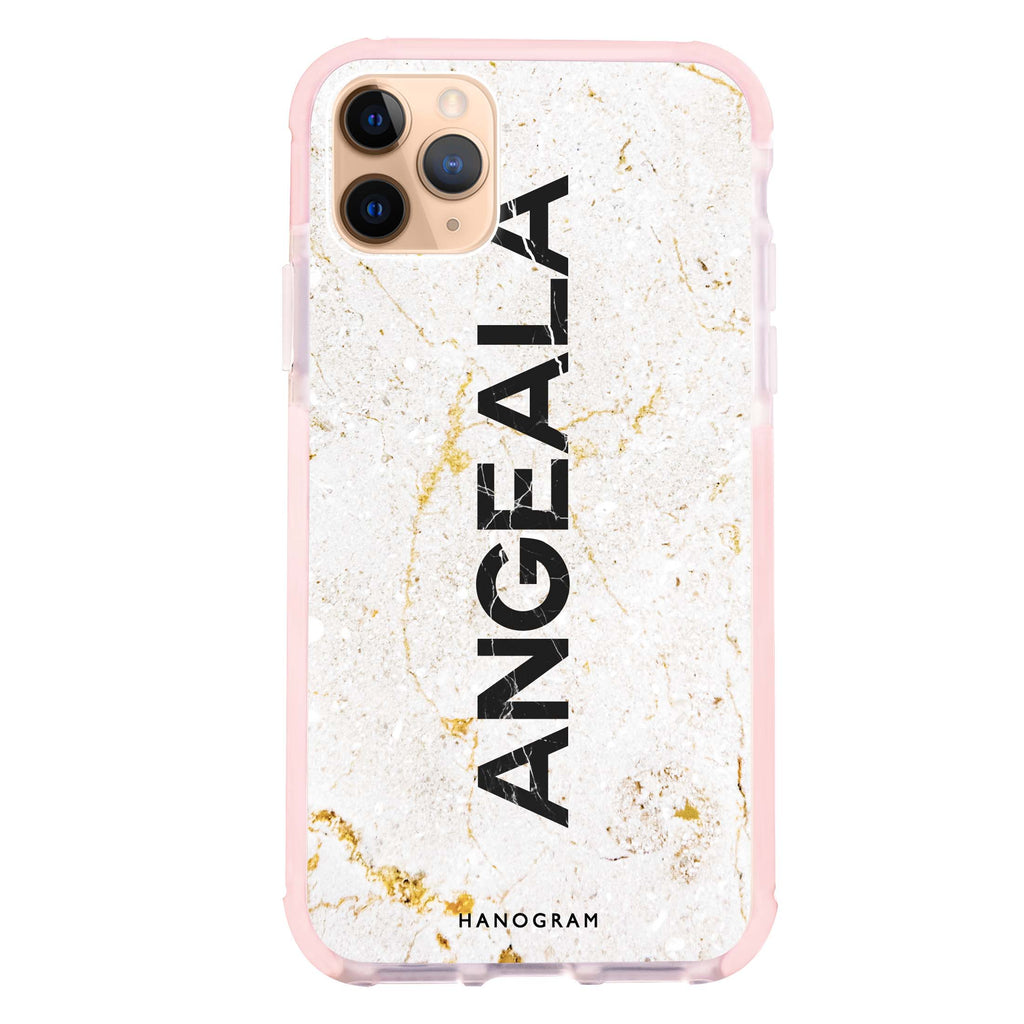 White Marble Shockproof Bumper Case