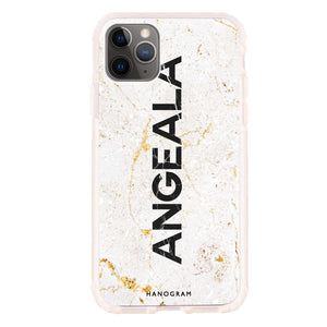 White Marble Frosted Bumper Case