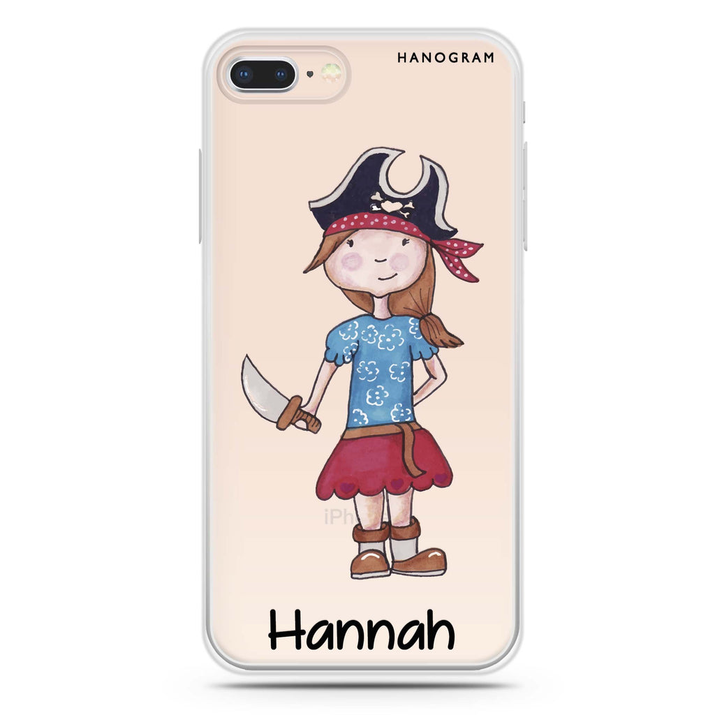 Little Pirate Girl iPhone 7 Plus Soft Clear Case