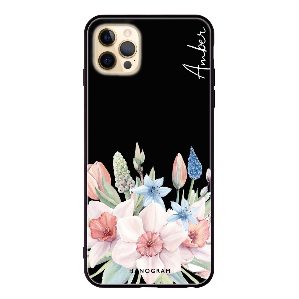 My Glamour Floral Glass Case