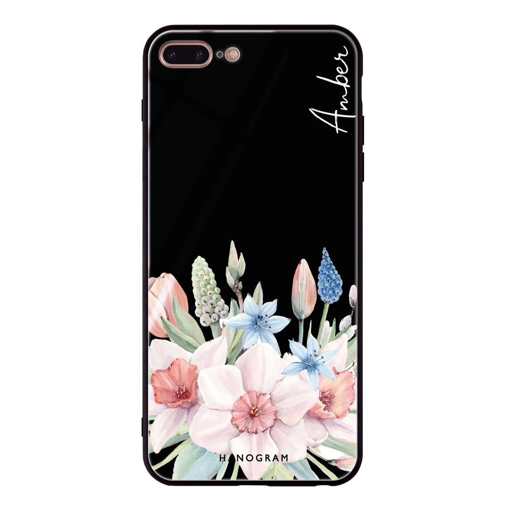 My Glamour Floral iPhone 7 Plus Glass Case