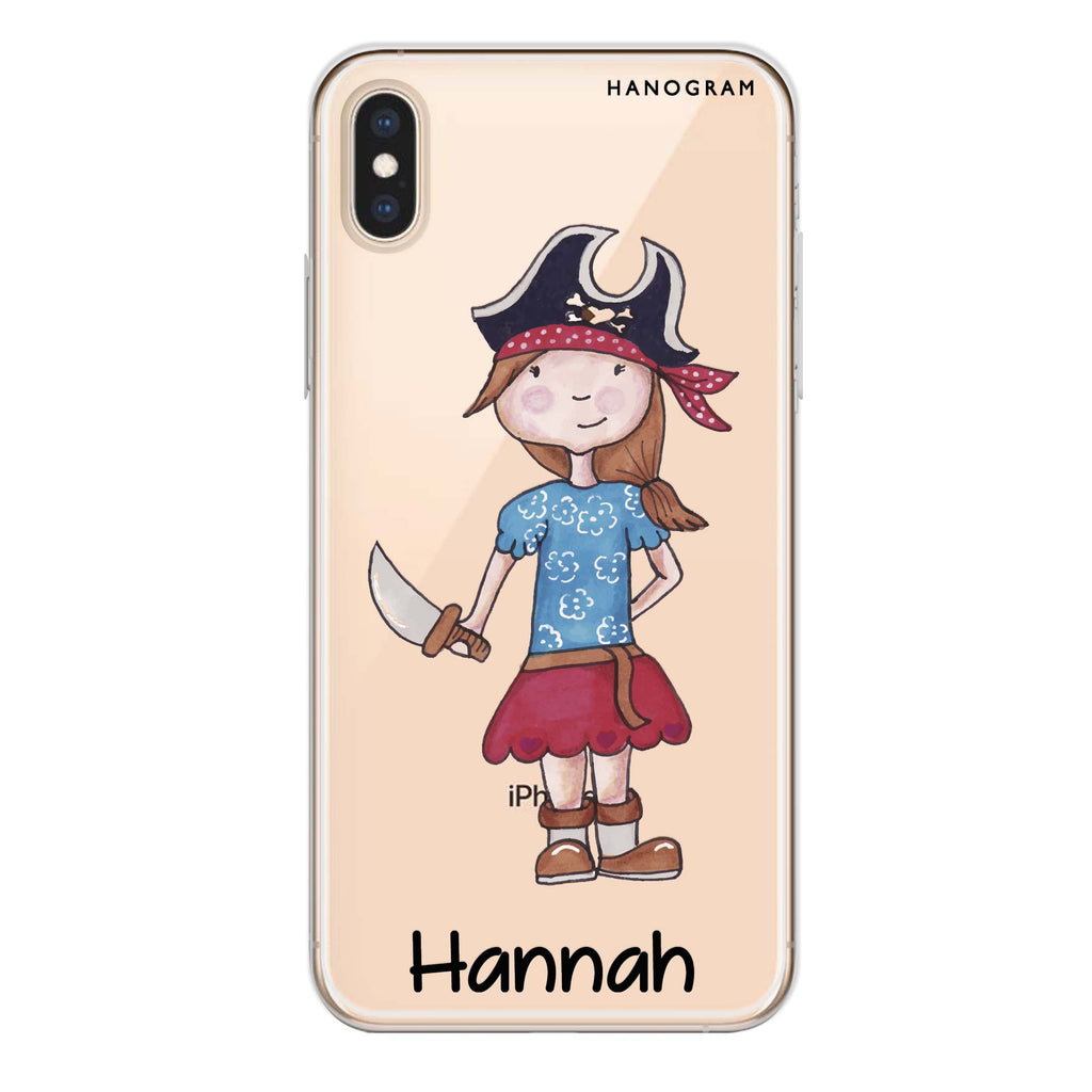 Little Pirate Girl iPhone XS Max Soft Clear Case
