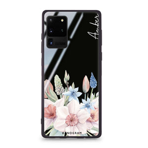 My Glamour Floral Samsung Glass Case