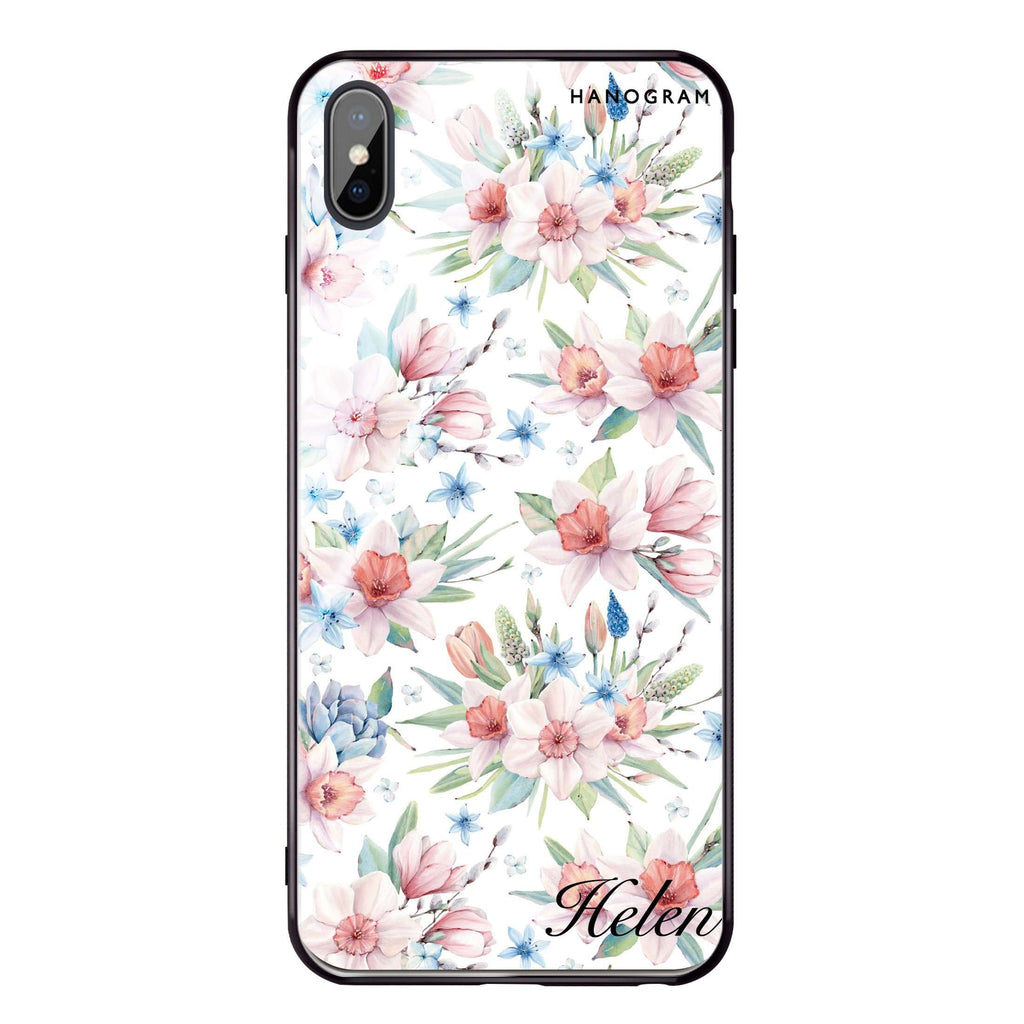 Glamour Floral World iPhone XS Max Glass Case