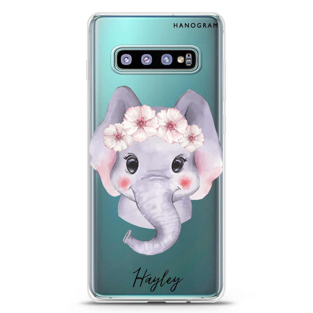 Baby Elephant Samsung S10 Plus Soft Clear Case