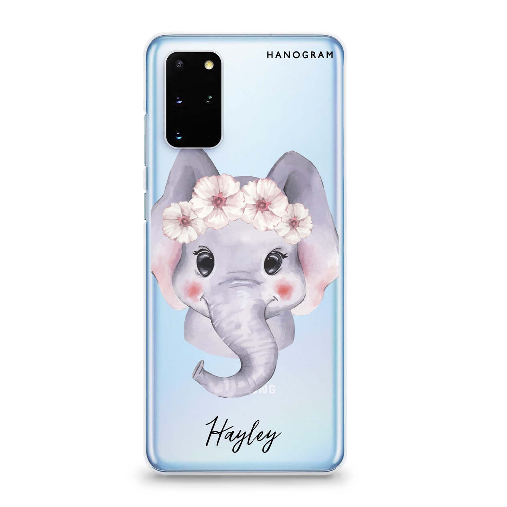 Baby Elephant Samsung S20 Soft Clear Case