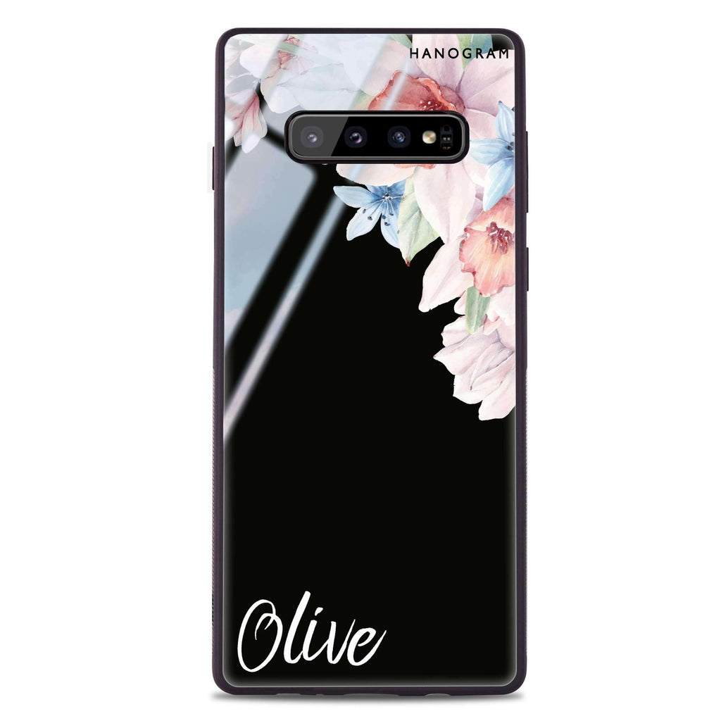 Glamour Floral Samsung S10 Plus Glass Case