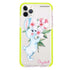 Rabbit And Flowers Shockproof Bumper Case