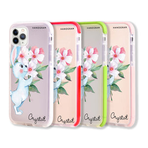 Rabbit And Flowers Frosted Bumper Case