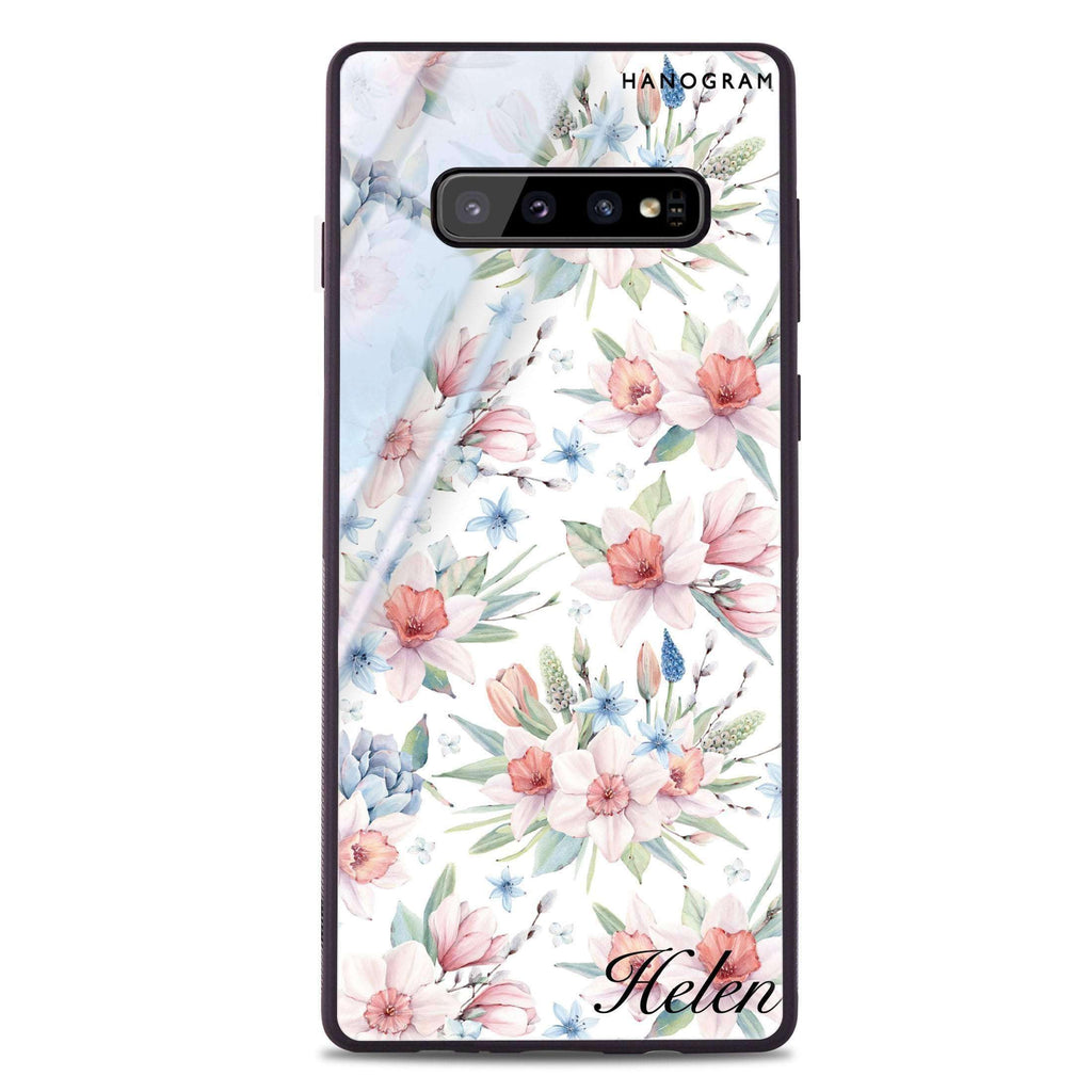 Glamour Floral World Samsung S10 Plus Glass Case