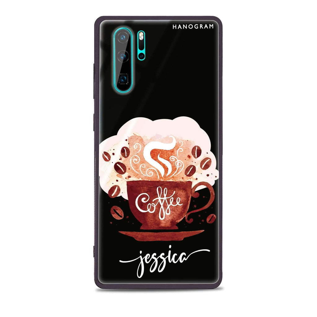 Fragrant coffee Huawei Glass Case