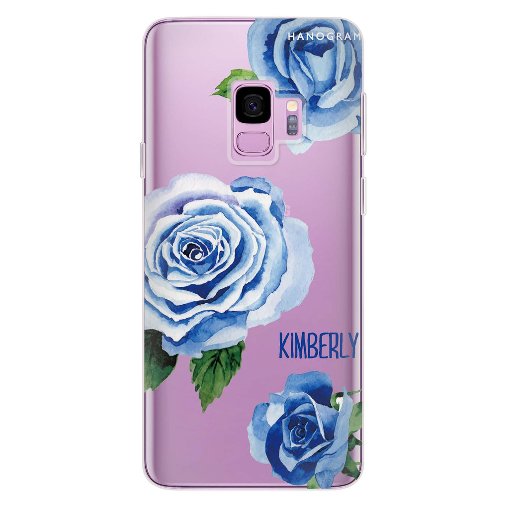 Blue Rose Samsung S9 Soft Clear Case