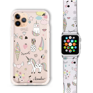 My lovely Cartoon - Frosted Bumper Case and Watch Band
