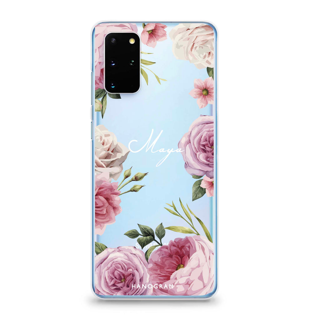 Beautiful Pretty Floral Samsung S20 Plus Soft Clear Case