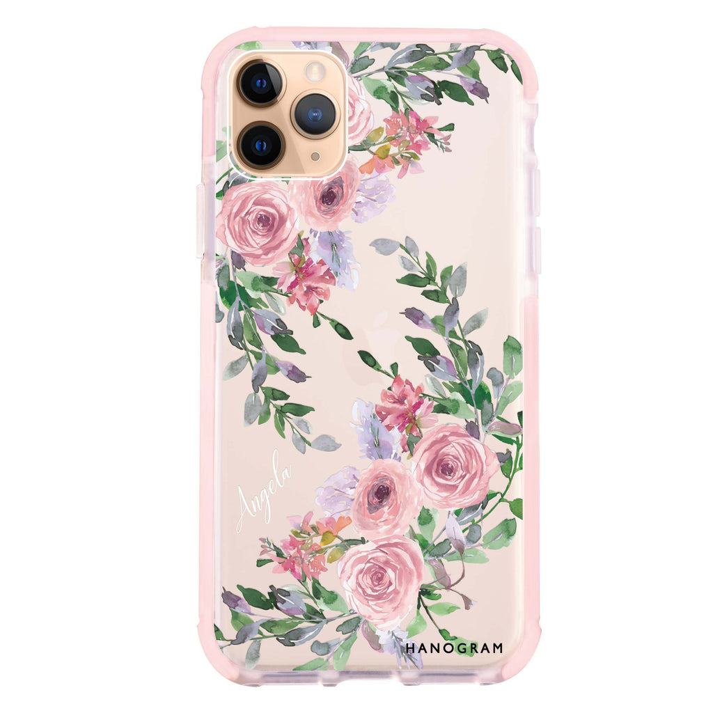 Lucy Watercolor Rose Shockproof Bumper Case