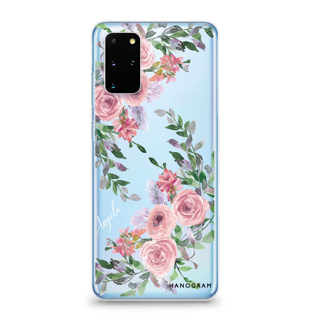 Lucy Watercolor Rose Samsung S20 Plus Soft Clear Case