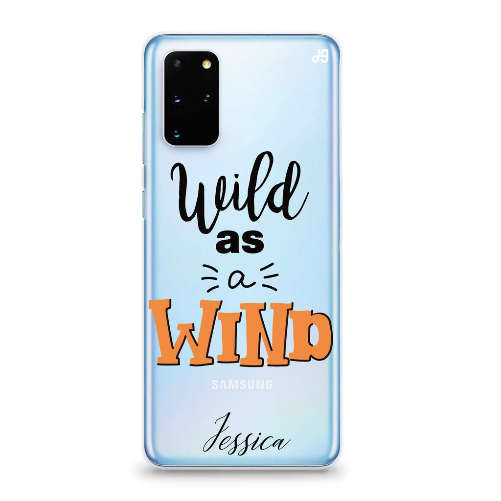 Wild as a Wind Samsung S20 Plus Soft Clear Case