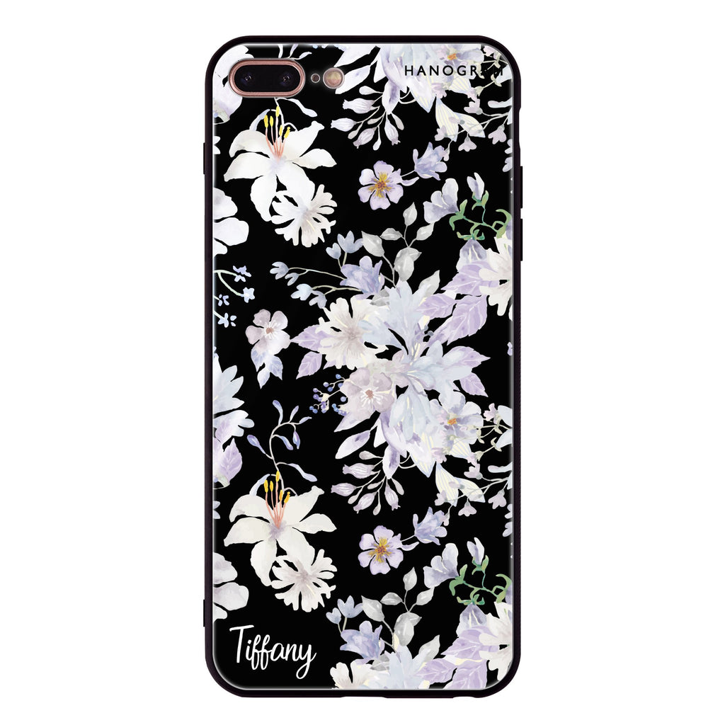 Serene Flowers Pattern iPhone 8 Plus Glass Case
