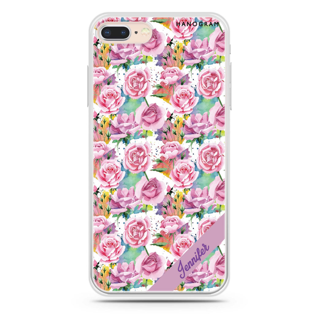 Colorful Rose iPhone 7 Plus Soft Clear Case