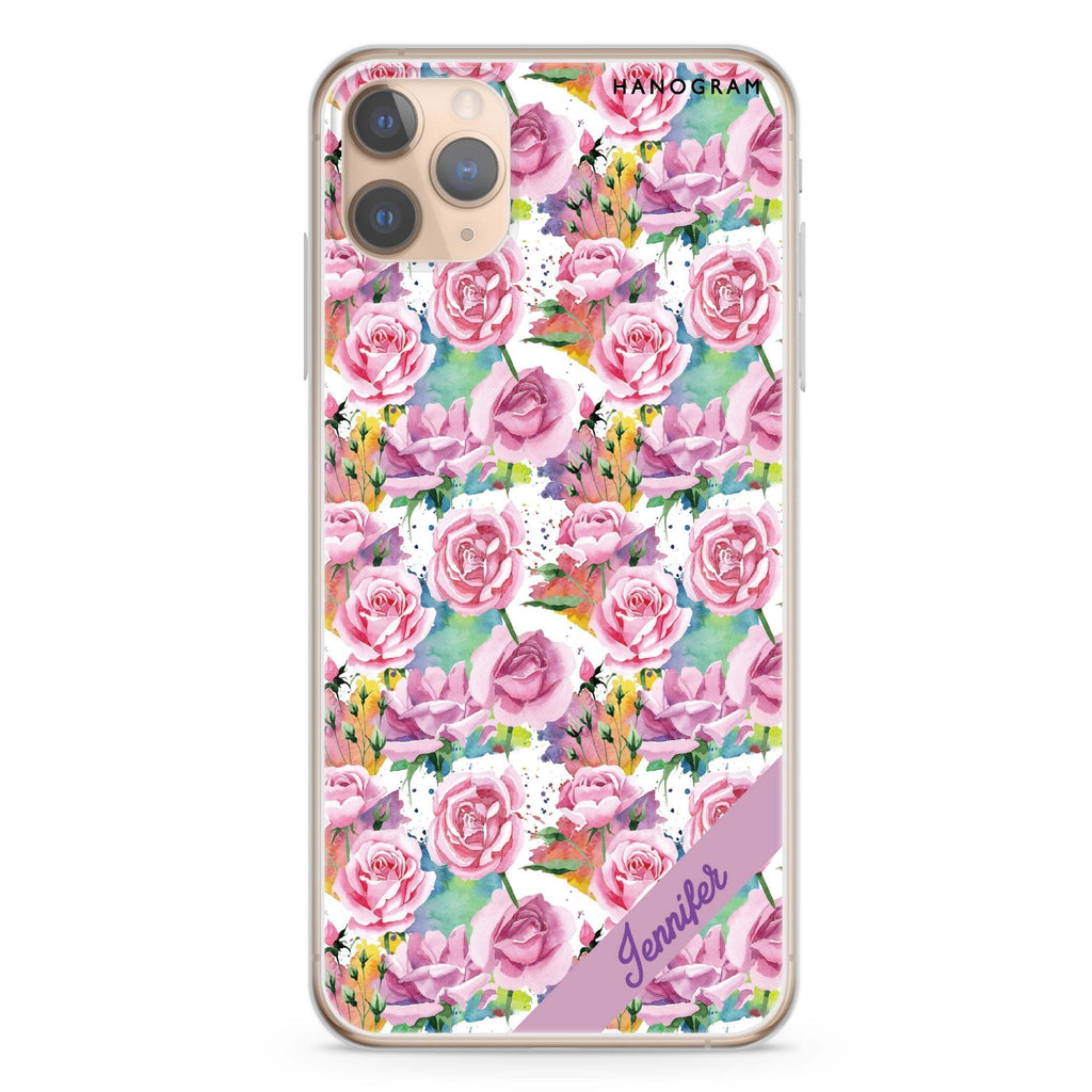 Colorful Rose iPhone 11 Pro Max Soft Clear Case