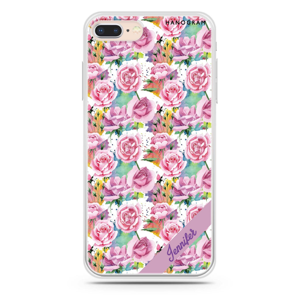 Colorful Rose iPhone 8 Soft Clear Case