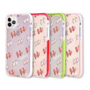 Double Heart Frosted Bumper Case