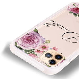 Light Pink Floral Frosted Bumper Case