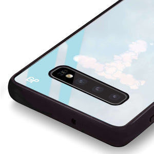 Monogram Clouds Samsung S10 Plus Glass Case