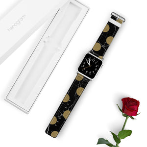 Black And Circle Marble APPLE WATCH BANDS