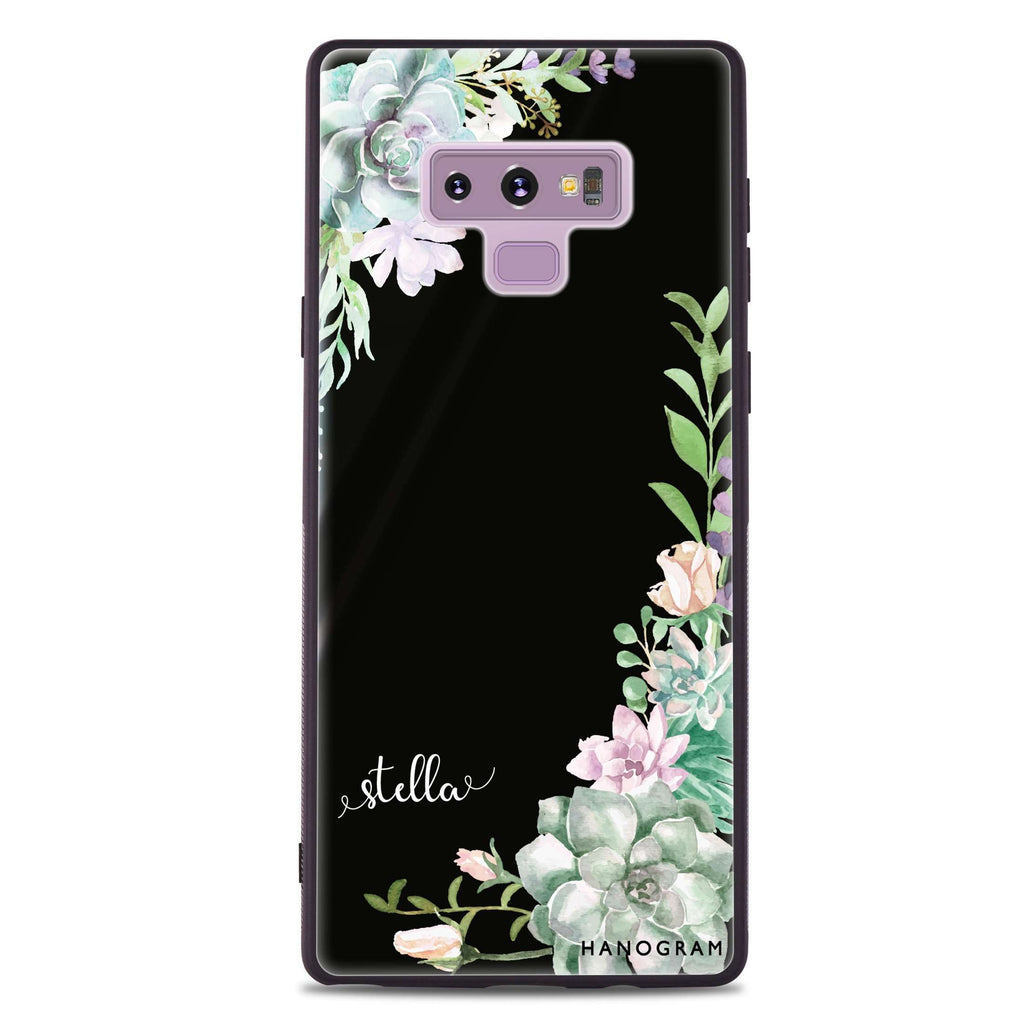 Rose in Wild Samsung Note 9 Glass Case