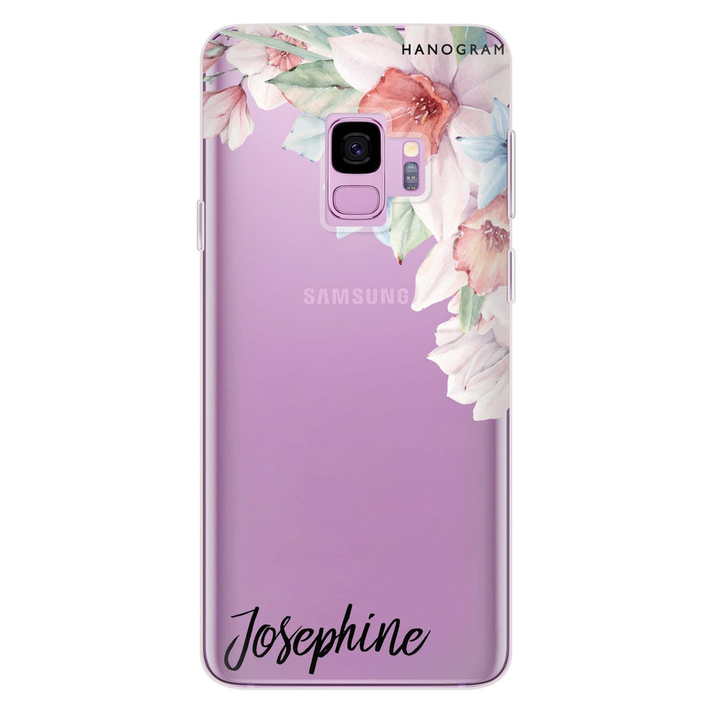 Glamour Floral Samsung S9 Soft Clear Case