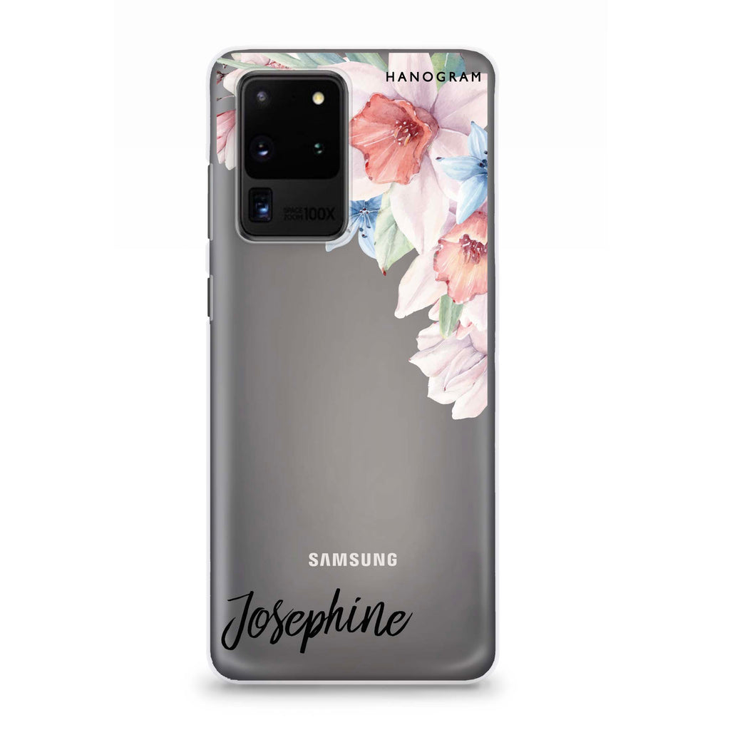Glamour Floral Samsung S20 Ultra Soft Clear Case