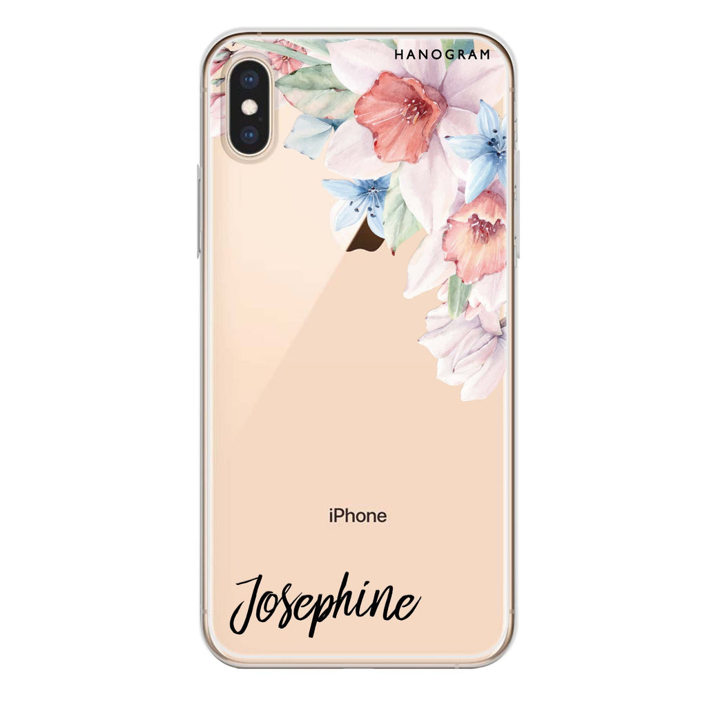 Glamour Floral iPhone X Soft Clear Case