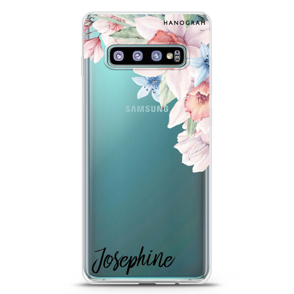 Glamour Floral Samsung S10 Plus Soft Clear Case