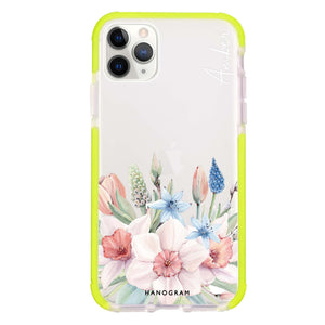 My Glamour Floral Frosted Bumper Case