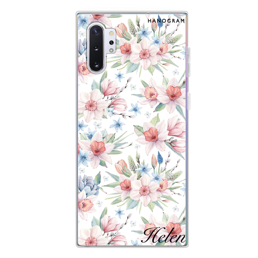 Glamour Floral World Samsung Note 10 Plus Soft Clear Case