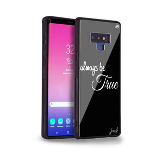 Always be true love with passion II Samsung Note 9 Glass Case