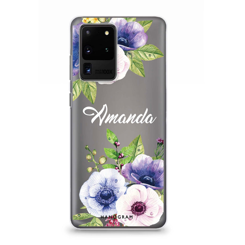 Blooming Flowers Samsung S20 Ultra Soft Clear Case