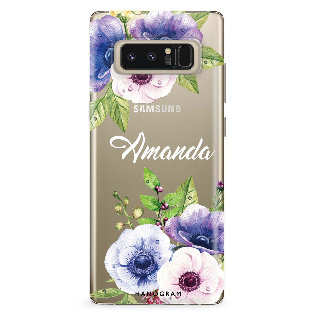 Blooming Flowers Samsung Note 8 Soft Clear Case