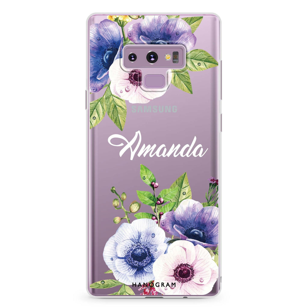 Blooming Flowers Samsung Note 9 Soft Clear Case