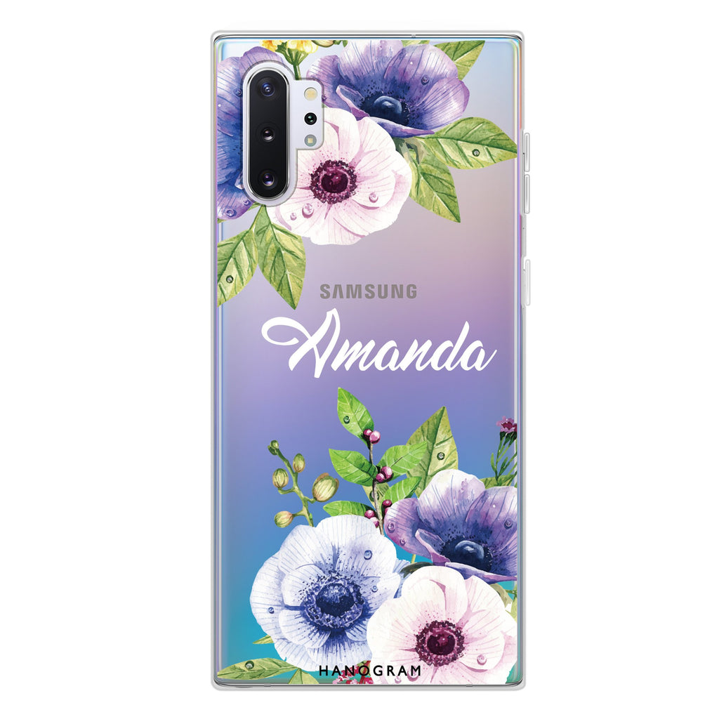 Blooming Flowers Samsung Note 10 Plus Soft Clear Case