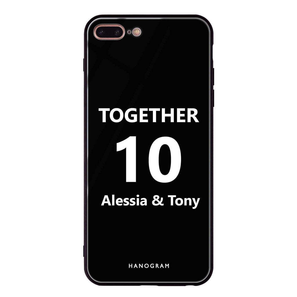 Love story I iPhone 8 Plus Glass Case