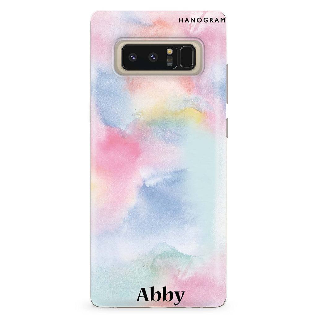 Magic Watercolour Samsung Note 8 Soft Clear Case