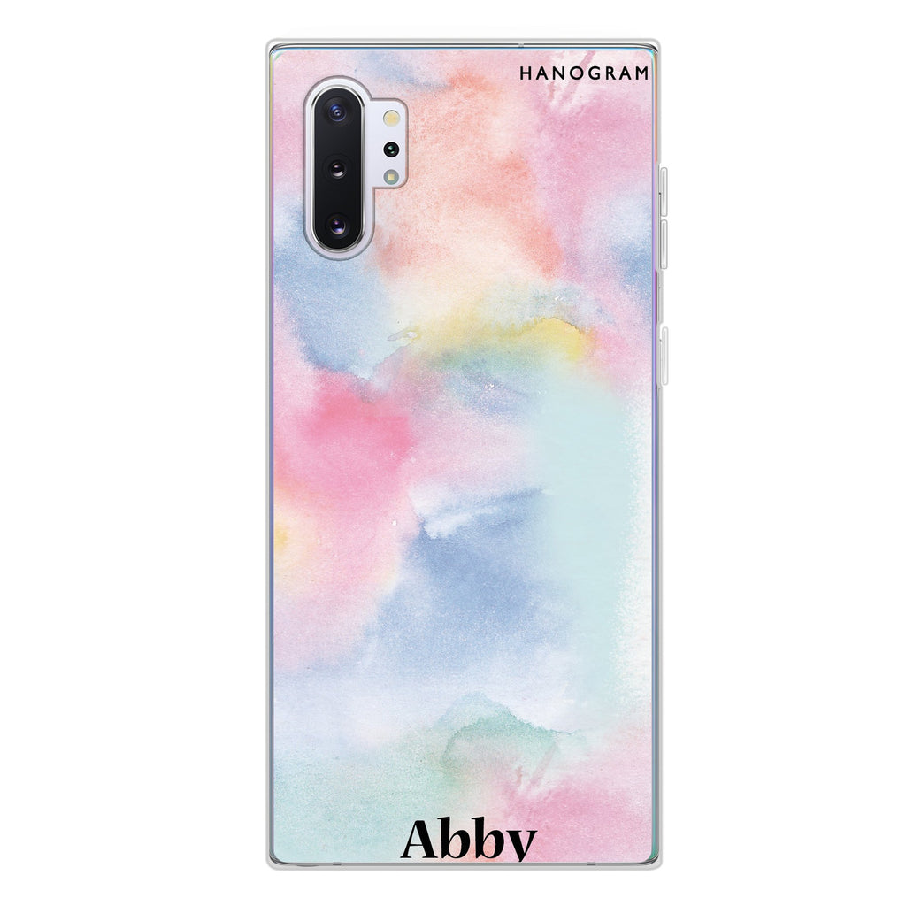 Magic Watercolour Samsung Note 10 Plus Soft Clear Case