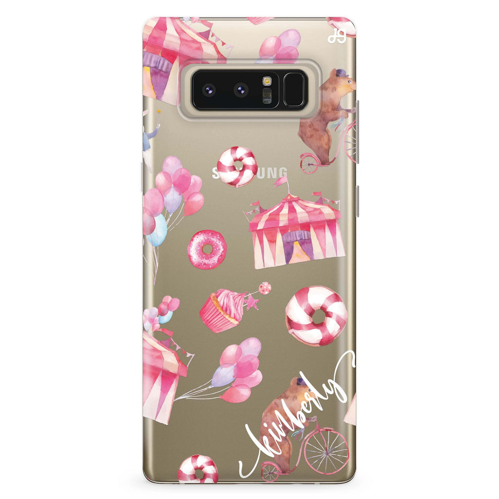 Red Circus Samsung Note 8 Soft Clear Case