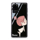 Cute girl kissing Samsung Glass Case