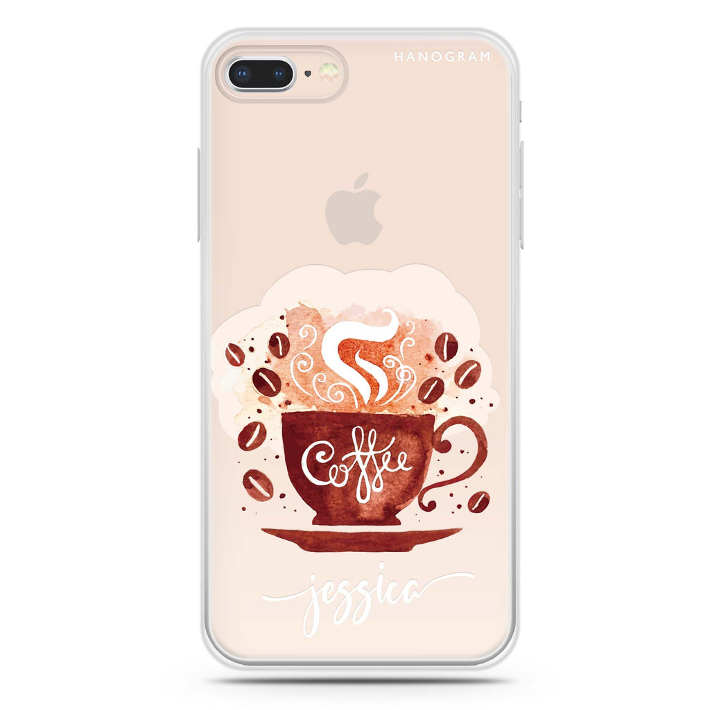 Fragrant coffee iPhone 7 Plus Soft Clear Case