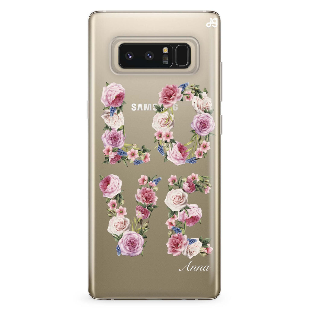 L.O.V.E Samsung Note 8 Soft Clear Case