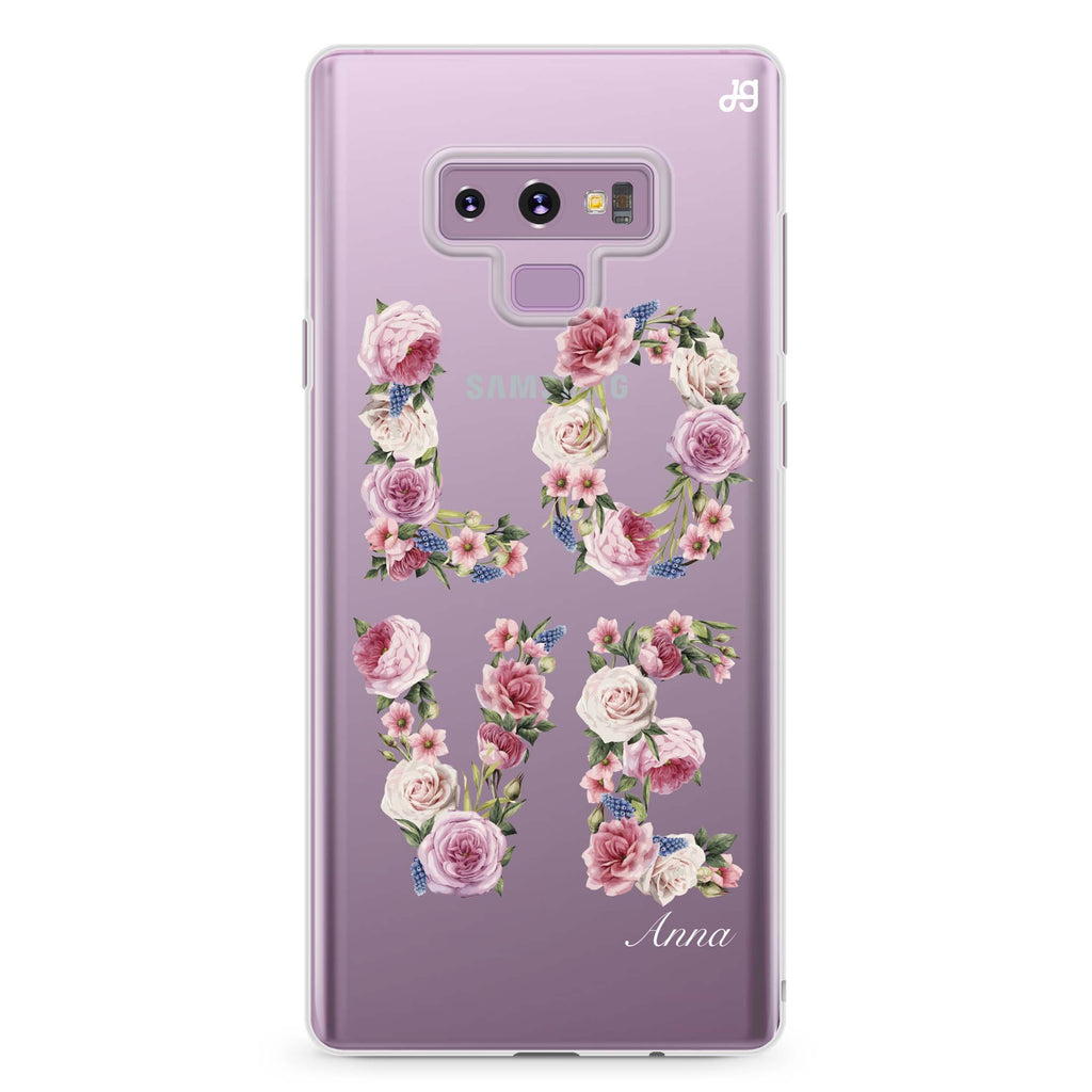 L.O.V.E Samsung Note 9 Soft Clear Case